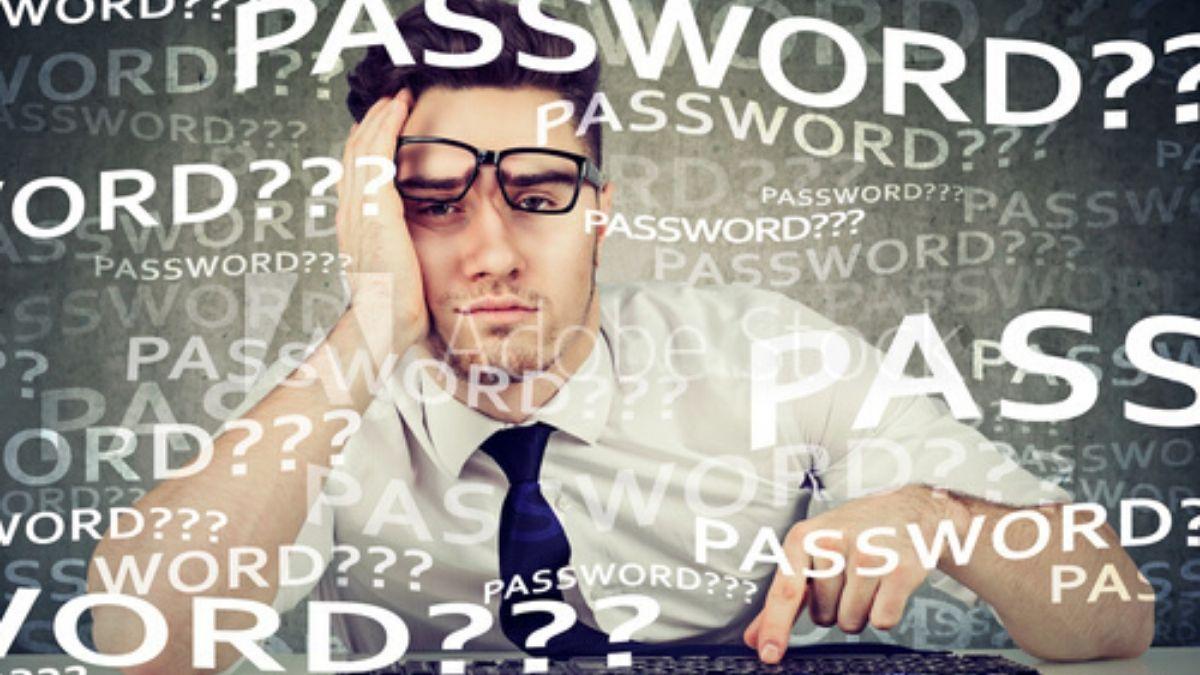 ログインパスワードがわからなくて悩む男性