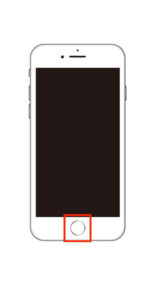 iPhone6sのホームボタンを押している