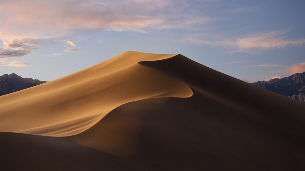Mojaveのデスクトップ画