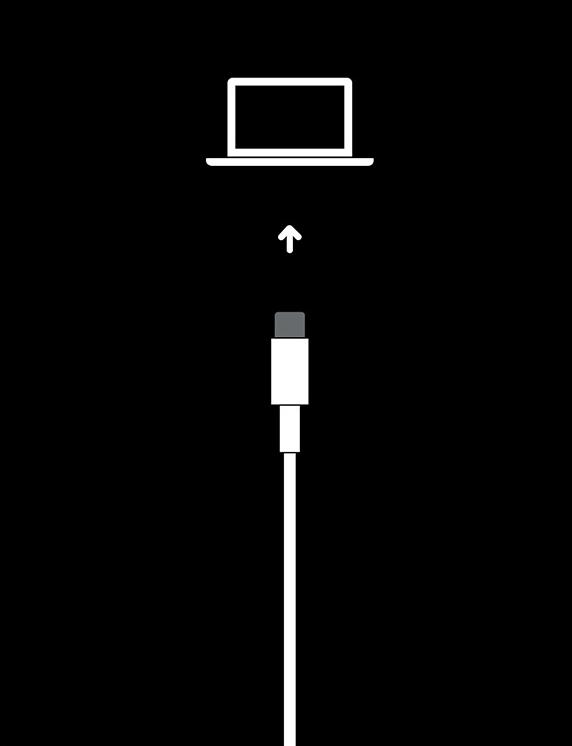 iPhoneがリカバリーモードになっている