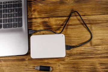 外付けのHDDまたはSSDを用意し接続します